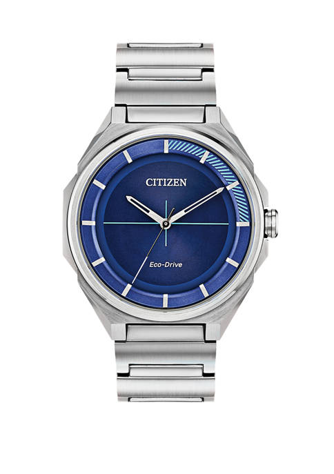Citizen Mens Drive Silver Tone Bracelet Watch