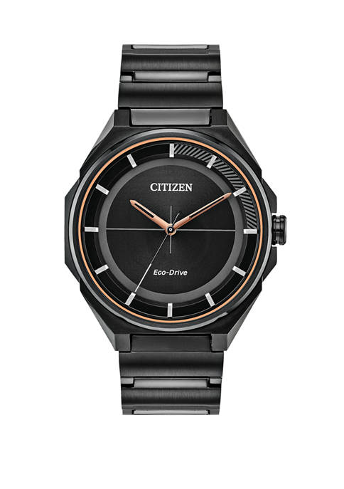 Citizen Mens Drive Black Ion Plated Bracelet Watch