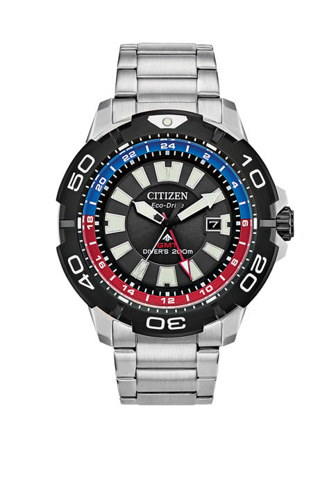 Citizen Mens Eco Drive Promaster GMT Diver Watch