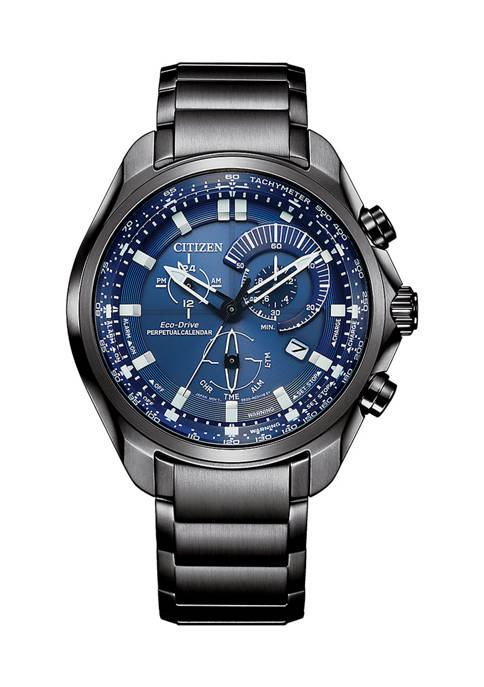 Citizen Eco-Drive Mens Sport Luxury Silver Tone Stainless
