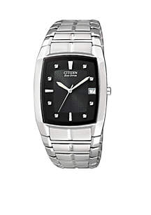 Eco-Drive Men's Black Crystal Watch