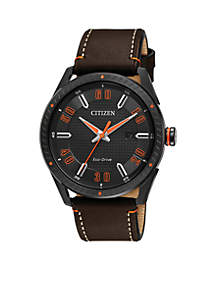 Men's Drive From Citizen Eco-Drive Brown Leather Watch