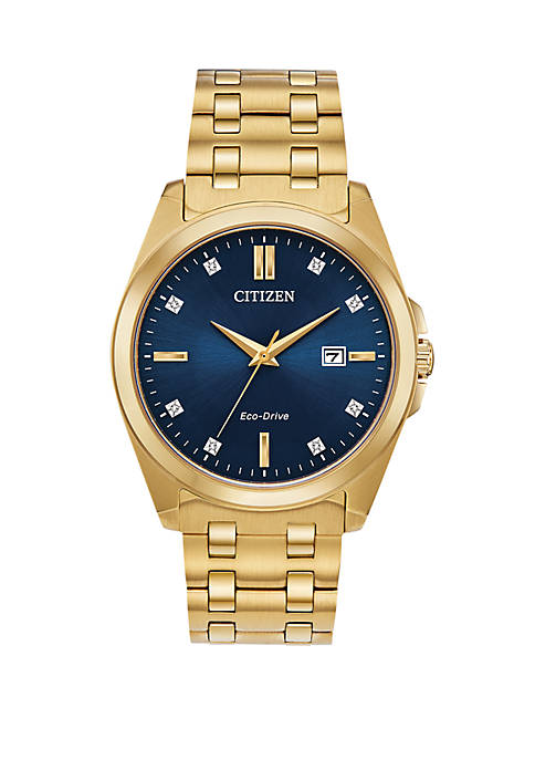 Citizen Eco Drive Mens Corso Stainless Steel Gold