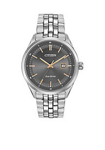 Citizen Men's Silver-Tone Stainless Steel Citizen Eco-Drive Watch