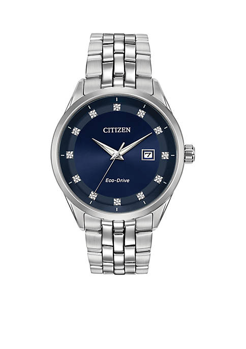 Citizen Mens Stainless Steel Eco-Drive Corso Watch with