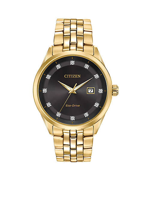 Citizen Mens Corso Gold-Tone Stainless Steel Watch With
