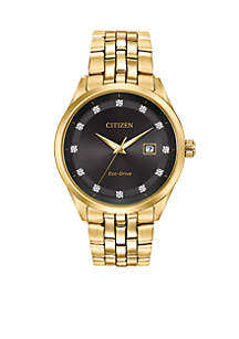 Citizen Men's Corso Gold-Tone Stainless Steel Watch With Date
