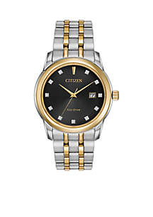 Citizen Men's Stainless Steel Citizen Eco-Drive Diamond Watch
