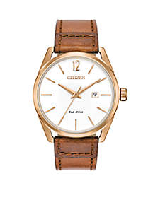 Drive Leather White Dial Watch