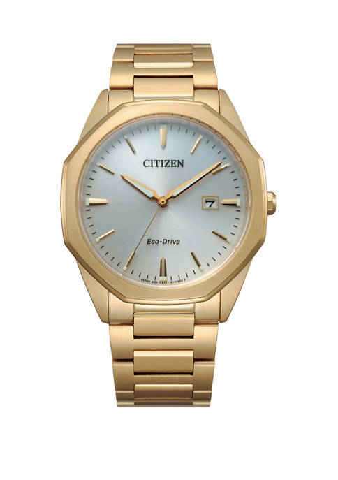 Citizen Mens Eco Drive Corso Gold Tone Watch