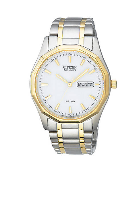 Citizen Eco-Drive Mens Two Tone Sport Watch