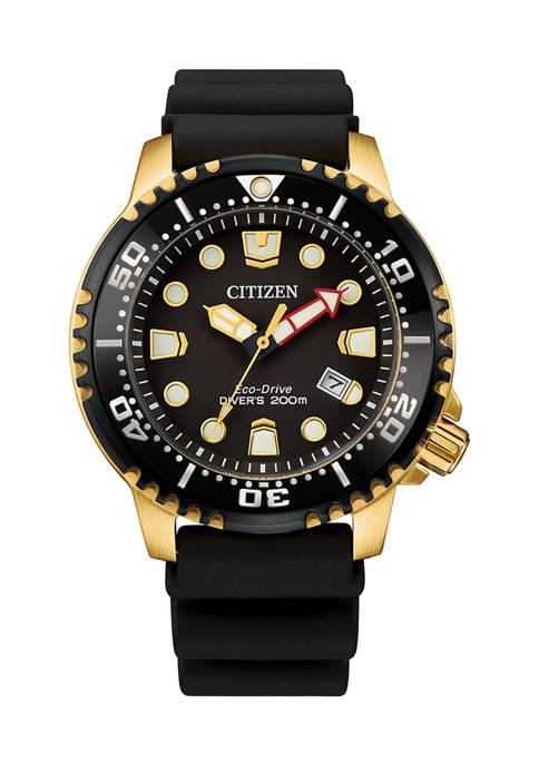 Citizen Mens Professional Diver Black Strap Watch