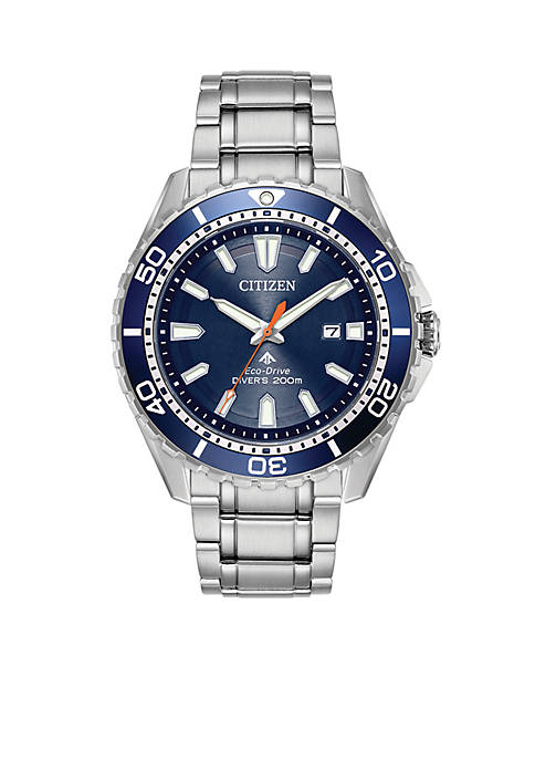 Citizen Mens Eco-Drive Stainless Steel Dive Bracelet Watch