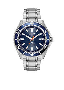 Citizen Men's Eco-Drive Stainless Steel Dive Bracelet Watch