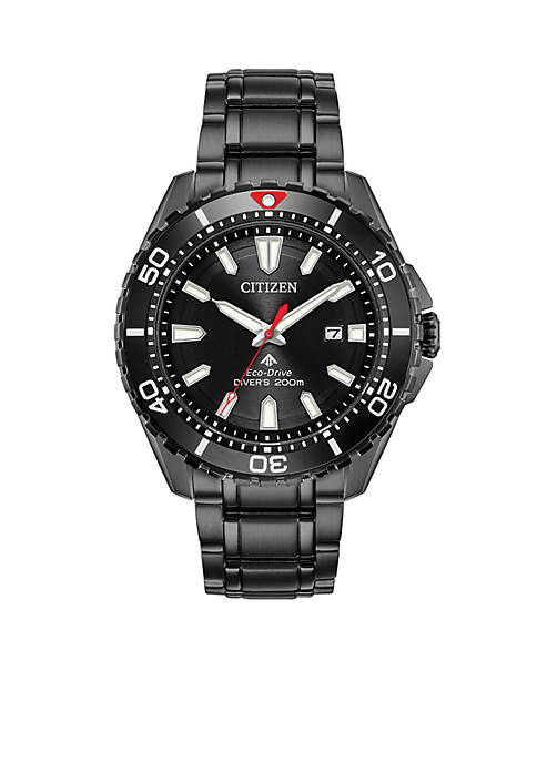 Mens Citizen Eco-Drive® Promaster Diver Black IP Watch