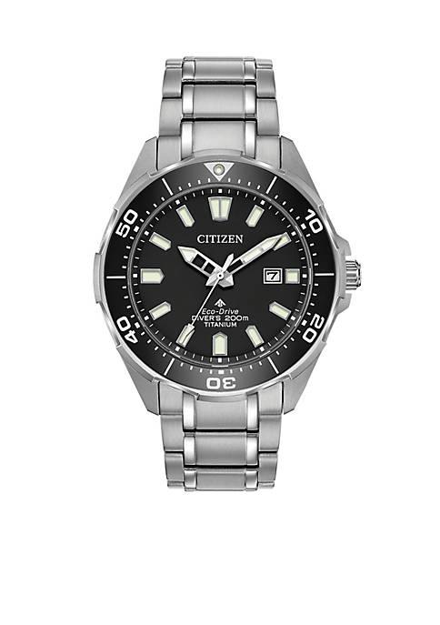 Citizen Mens Eco-Drive Promaster Diver Super Titanium Bracelet