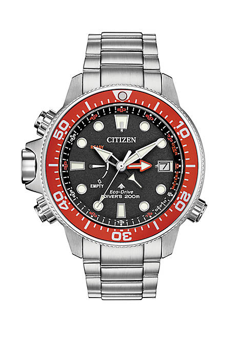 Citizen Eco Drive Mens Promaster Aqualand Stainless Steel