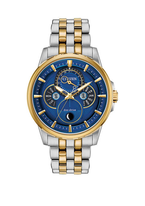 Citizen Mens Calendrier Two Tone Stainless Steel Bracelet