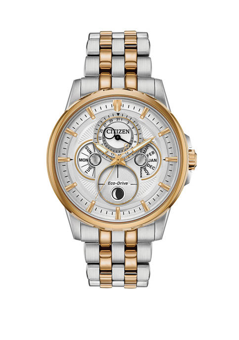 Citizen Calendrier Mens 2-Tone Bracelet Watch