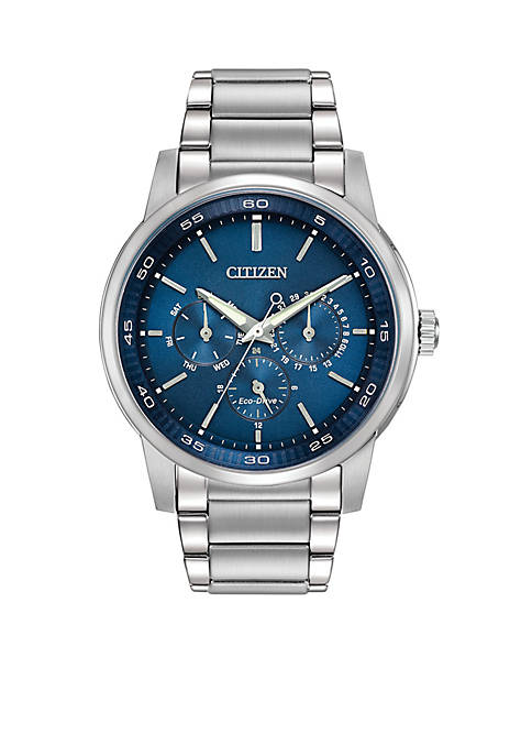 Citizen Mens Eco-Drive Stainless Steel Dress Blue Dial