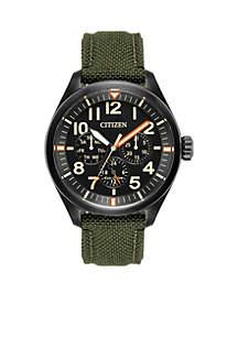 Mens Eco-Drive Chandler Cordura Strap Watch
