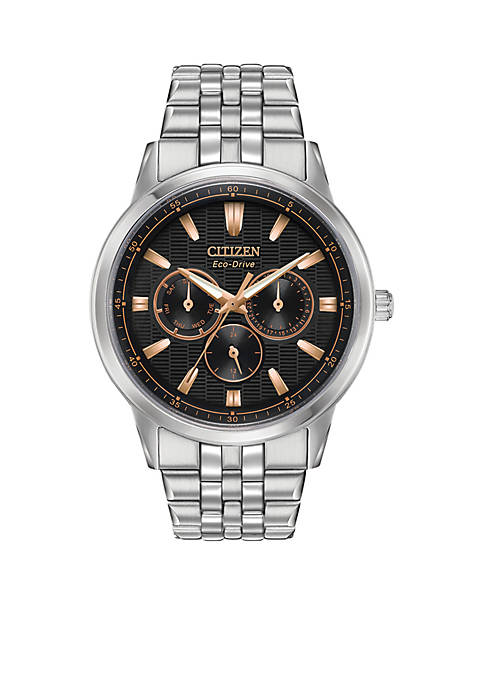Citizen Mens Stainless Steel Eco-Drive Corso Watch