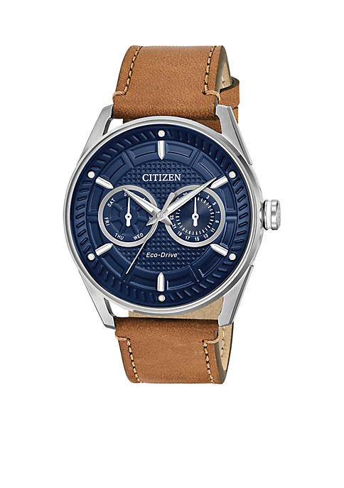 Mens Drive From Citizen Eco-Drive Brown Leather Watch
