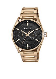 Citizen Men's Eco-Drive Gold-Tone Stainless Steel Bracelet Watch