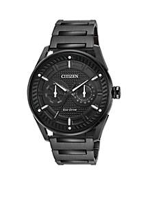 Citizen Men's Drive From Citizen Eco-Drive Stainless Steel Watch with Date and Black Stainless Steel Bracelet