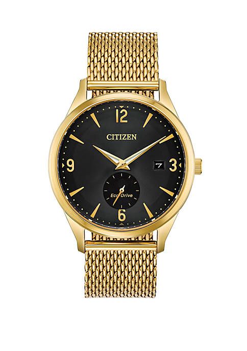 Gold-Tone Stainless Steel Drive from Citizen Eco-Drive Mesh Bracelet Watch