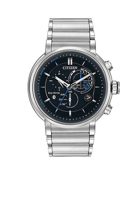 Citizen Mens Silver-Tone Stainless Steel Eco-Drive Proximity