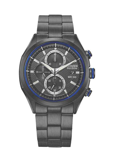 Black Stainless Steel Drive Watch