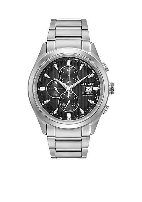 Mens Citizen Eco-Drive Super Titanium Chronograph Watch