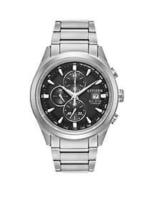 Men's Citizen Eco-Drive Super Titanium Chronograph Watch