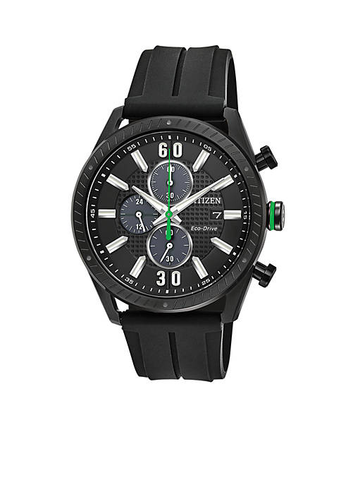 Mens Drive From Citizen Eco-Drive Black Polyurethane Watch