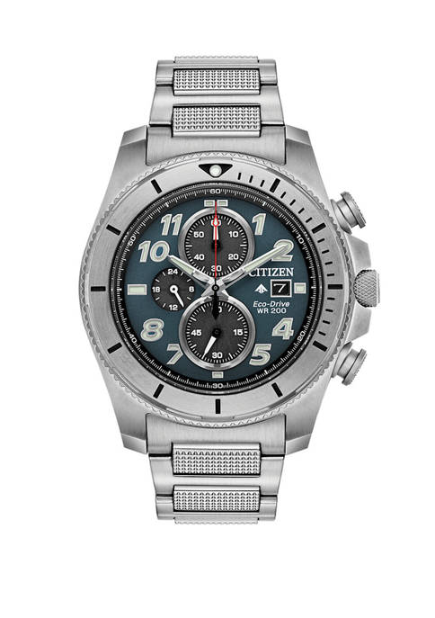 Citizen Promaster Tough Mens Silver Tone Bracelet Watch