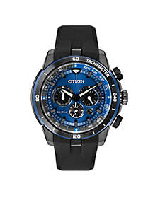 Citizen Men's Eco-Drive Ecosphere Chronograph Black Rubber Strap Watch