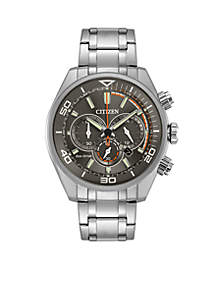 Citizen Men's Eco-Drive Chronograph Titanium Stainless Steel Bracelet Watch