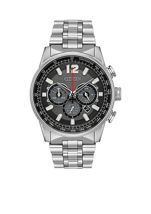 Citizen Mens Stainless Steel Eco Drive Bracelet Watch