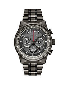 Citizen Men's Stainless Steel Eco-Drive Nighthawk Granite IP Chronograph Watch