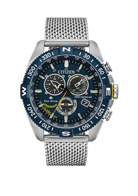 Citizen Mens Promaster Navihawk Silver Tone Stainless Steel