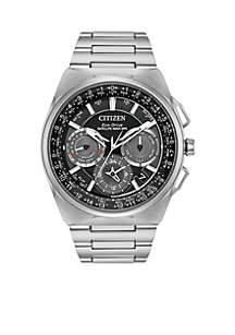 Men's Citizen Eco-Drive Titanium Watch with Perpetual Calendar and Silver-Tone Titanium Bracelet