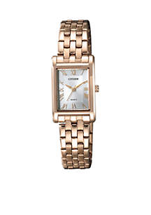 Women's Quartz Two-Tone Stainless Steel Bracelet Watch