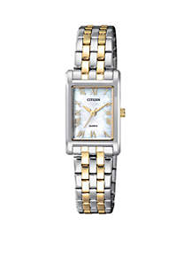 Women's Quartz Two-Tone Stainless Steel Bracelet Watch