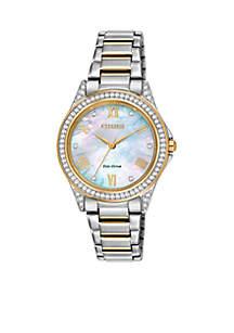 Women's Two Tone Stainless Steel Swarovski Watch