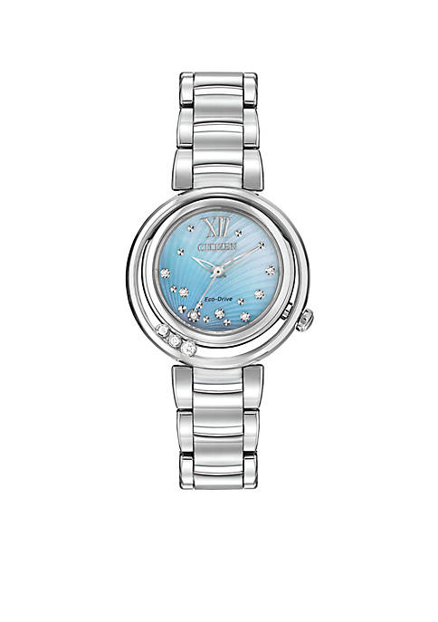 Citizen Womens L Sunrise Eco-Drive Stainless Steel Diamond