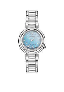 Women's L Sunrise Eco-Drive Stainless Steel Diamond Watch