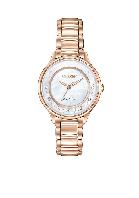 Womens Eco-Drive Circle of Time Diamond Watch
