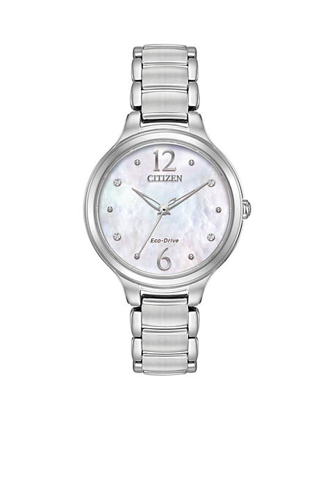 Citizen Womens Eco-Drive Silver-Tone Stainless Steel Bracelet