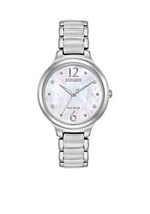 Women's Eco-Drive Silver-Tone Stainless Steel Bracelet Watch